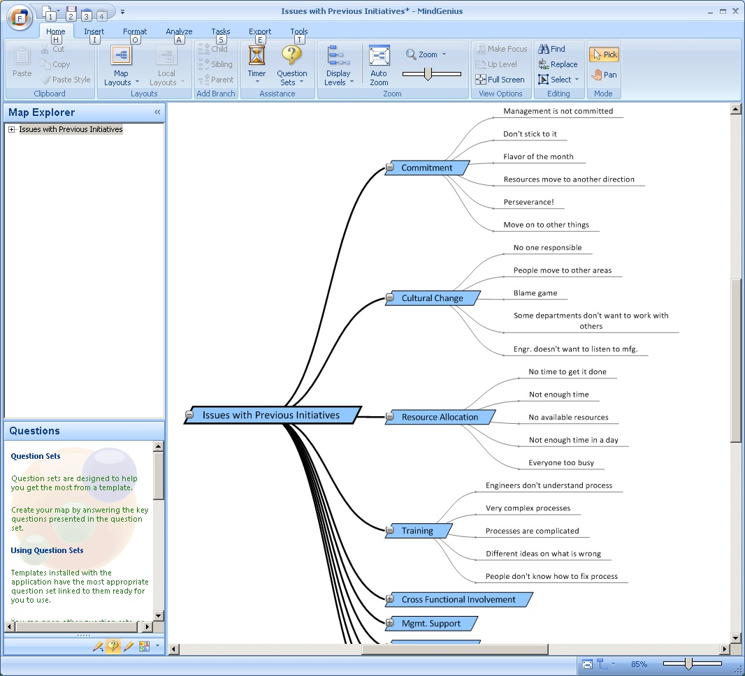 Affinity Diagram In MindGenius Software